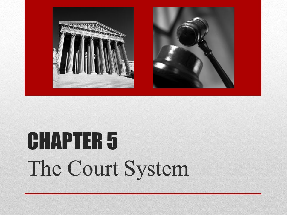 Chapter 5 The Court System