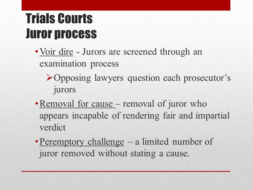 Trials Courts Juror process
