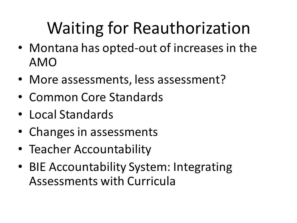Waiting for Reauthorization