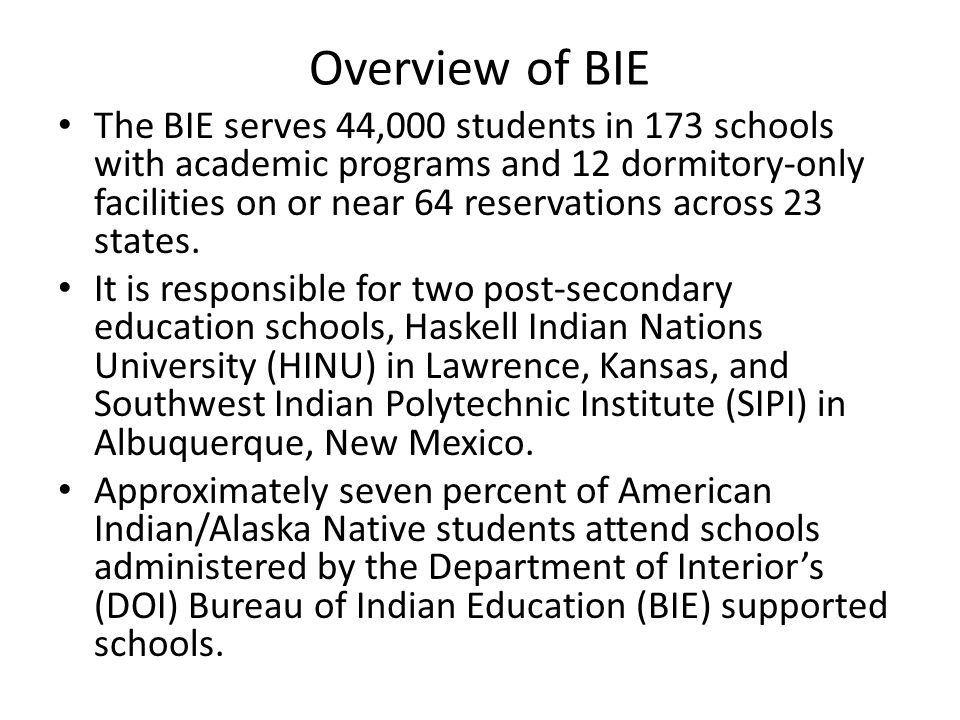Overview of BIE