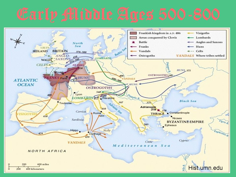Early Middle Ages 500-800 Hist.umn.edu
