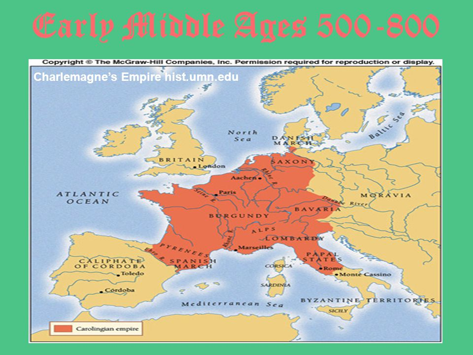 Early Middle Ages 500-800 Charlemagne's Empire hist.umn.edu