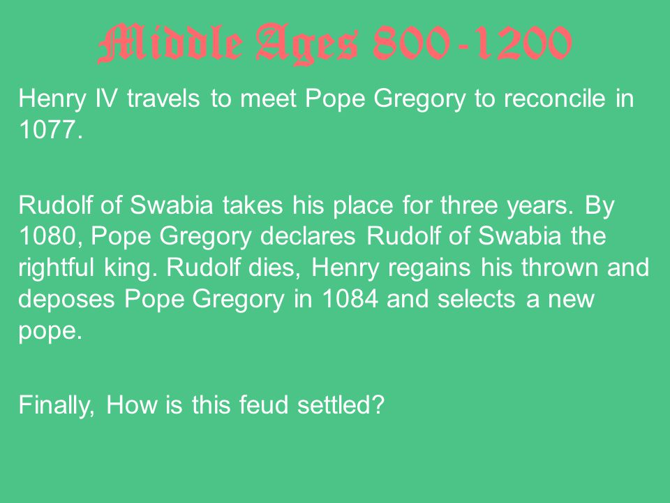 Middle Ages 800-1200