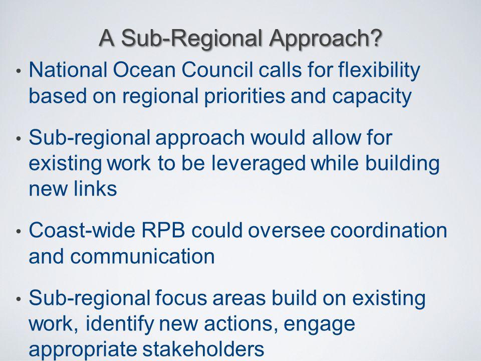 A Sub-Regional Approach
