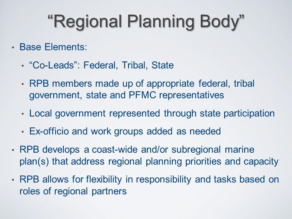 Regional Planning Body
