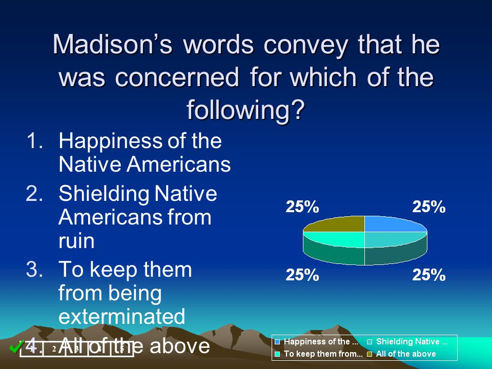 Madison's words convey that he was concerned for which of the following