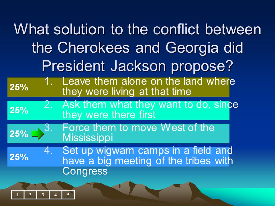 What solution to the conflict between the Cherokees and Georgia did President Jackson propose