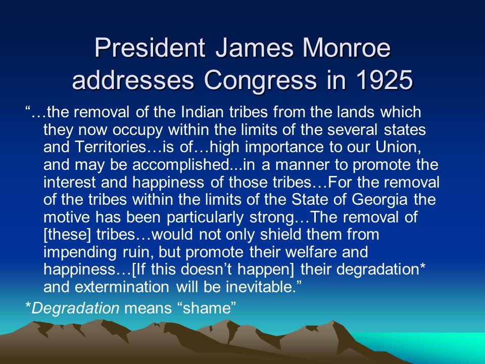 President James Monroe addresses Congress in 1925