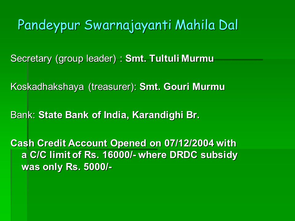 Pandeypur Swarnajayanti Mahila Dal