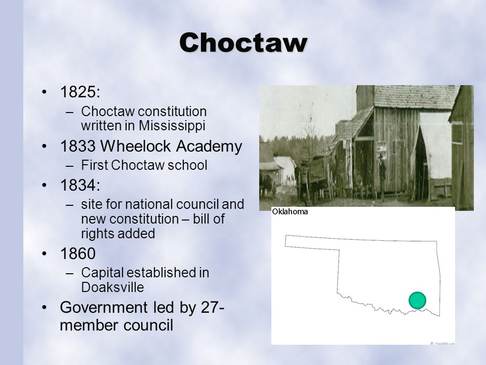 Choctaw Newspapers: Slaves were used as labor on growing plantations