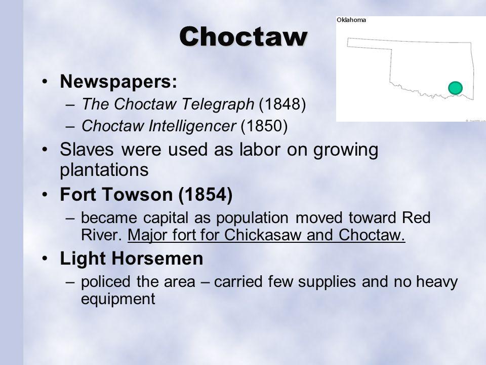 Creek Upper Creeks (1836-1837); Homes were log cabins