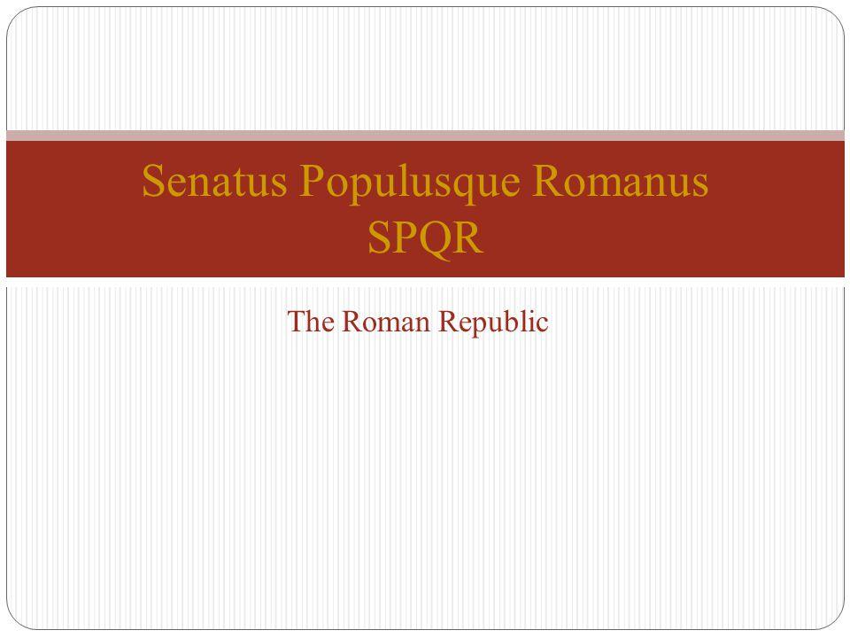 Senatus Populusque Romanus SPQR