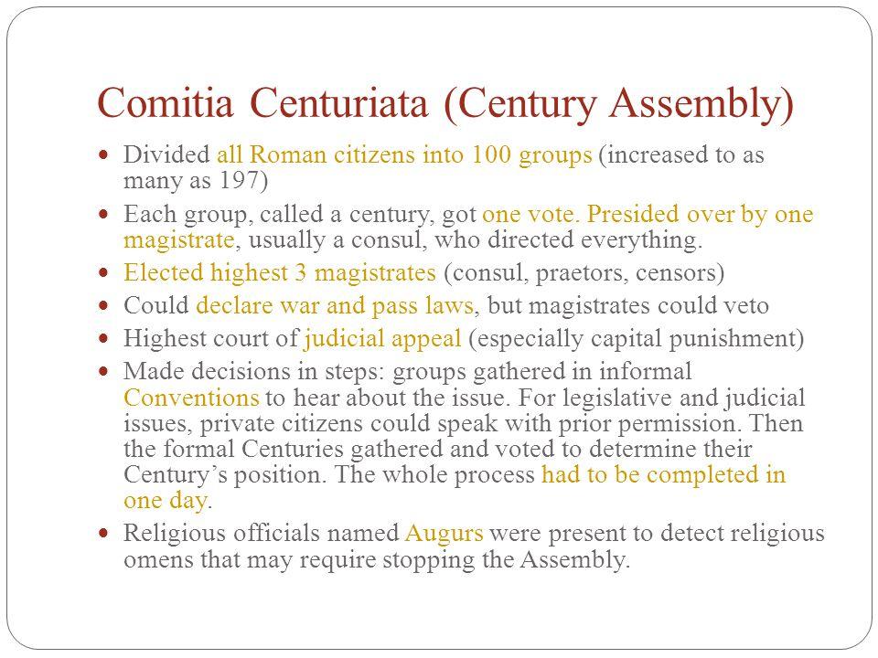 Comitia Centuriata (Century Assembly)