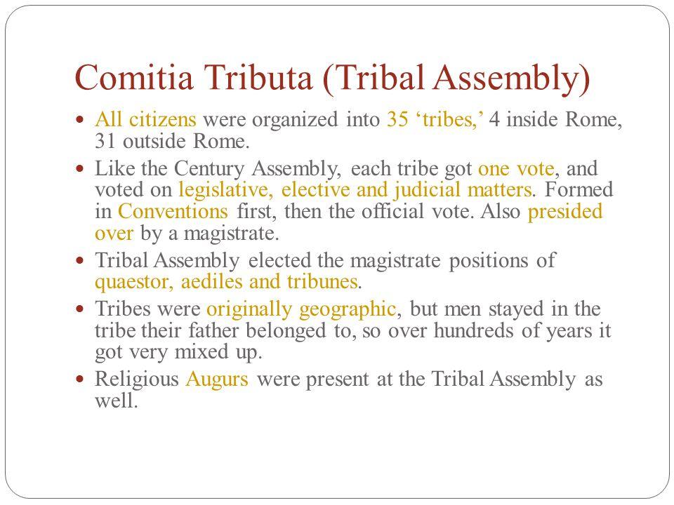 Comitia Tributa (Tribal Assembly)