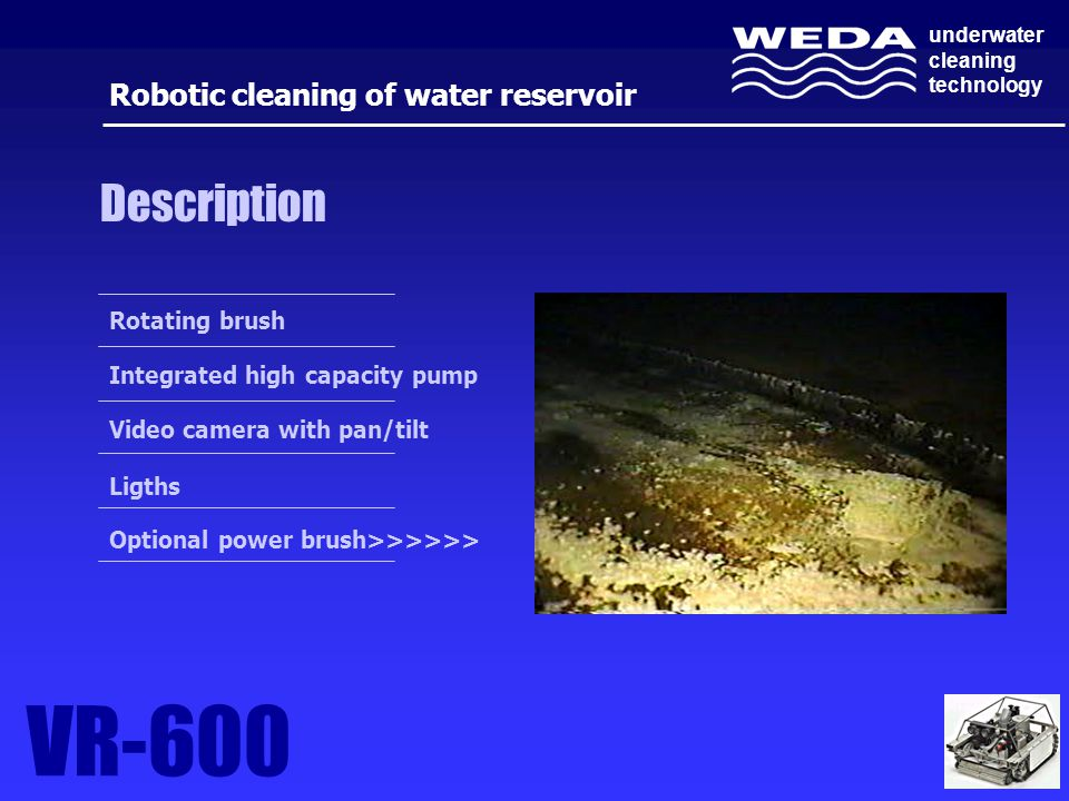Robotic cleaning of water reservoir