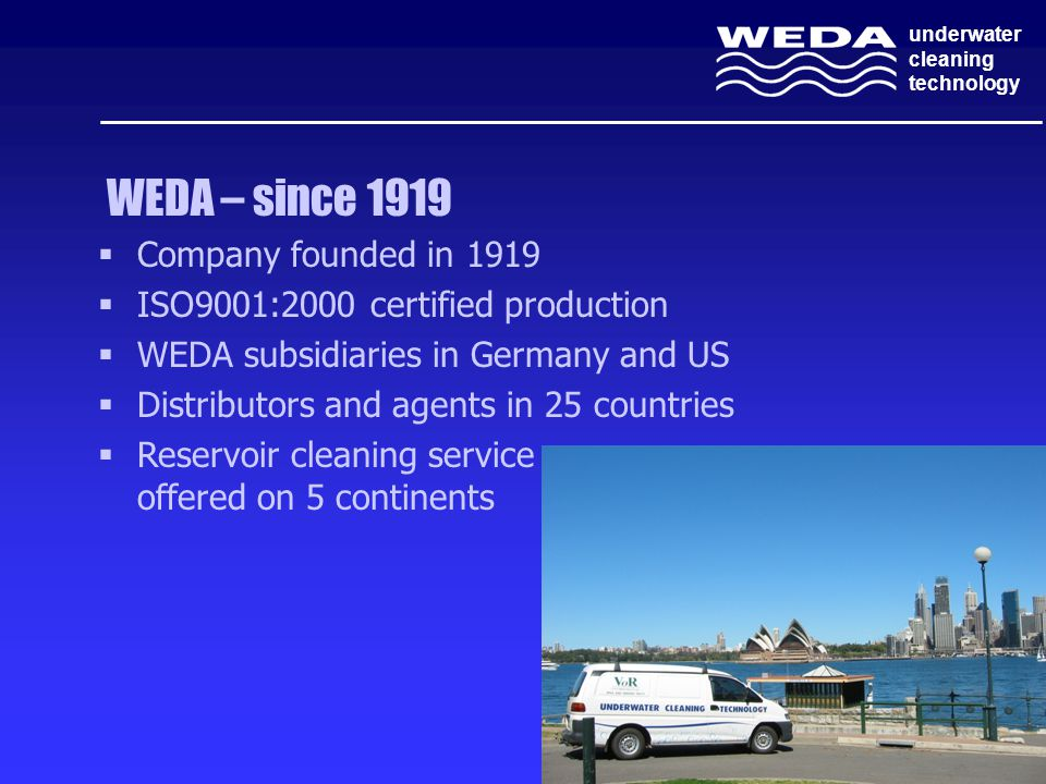 WEDA – since 1919 Company founded in 1919