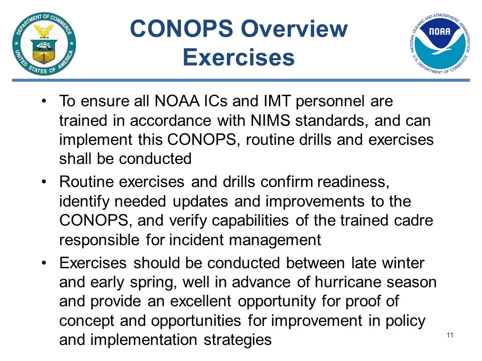 CONOPS Overview Exercises