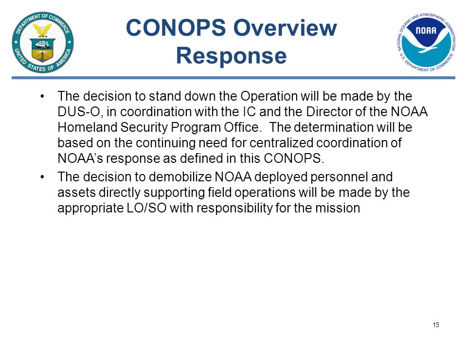 CONOPS Overview Response