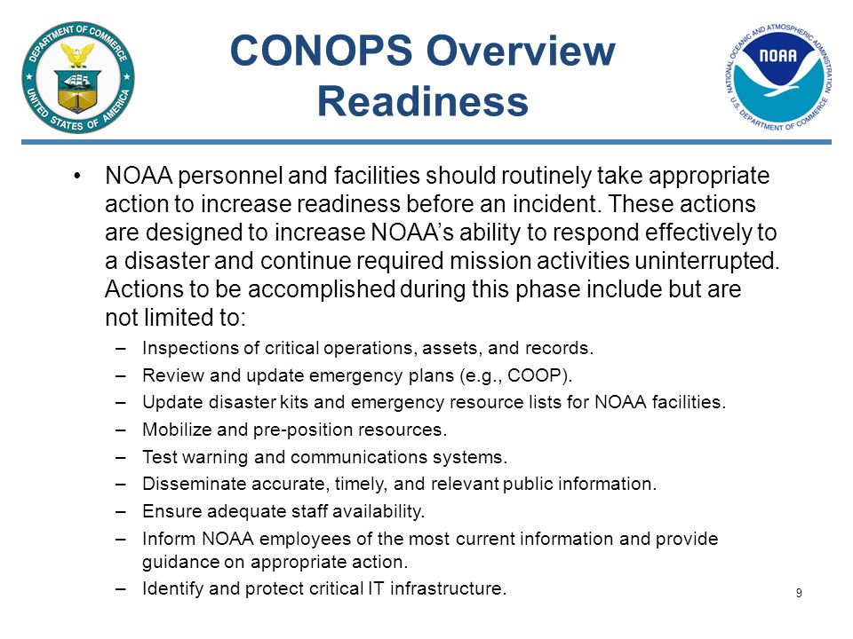 CONOPS Overview Readiness