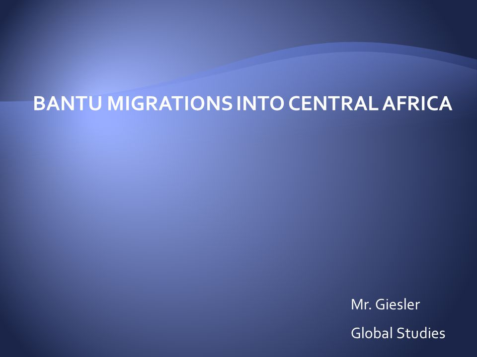 reasons for bantu migration
