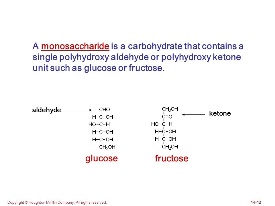 A monosaccharide is a carbohydrate that contains a