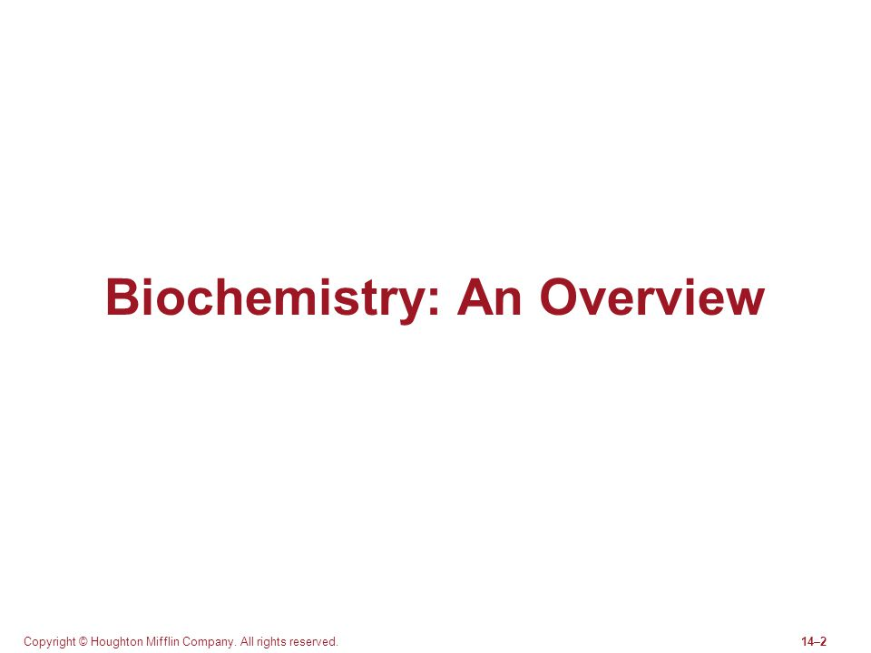Biochemistry: An Overview