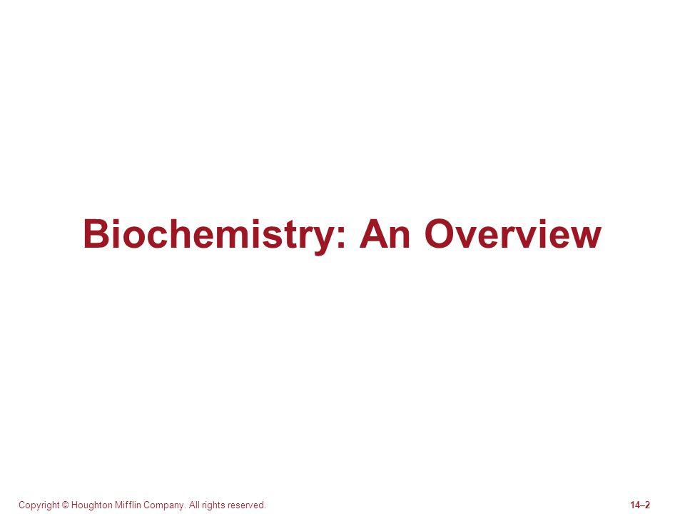 Biochemistry: An Overview