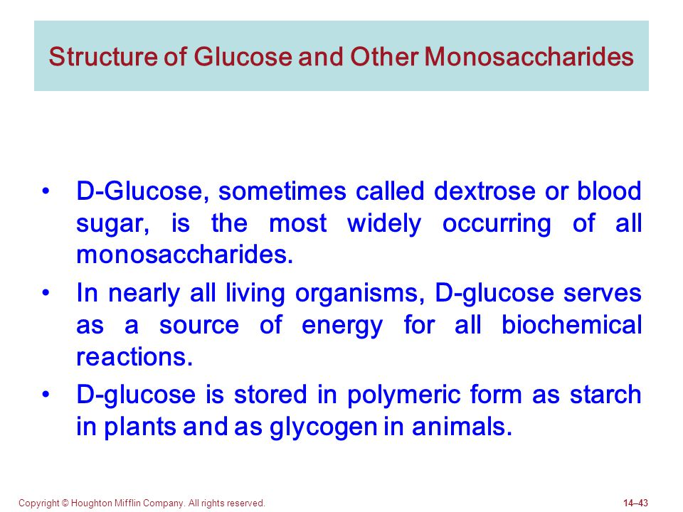 Structure of Glucose and Other Monosaccharides