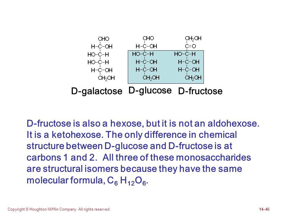D-galactose D-glucose D-fructose