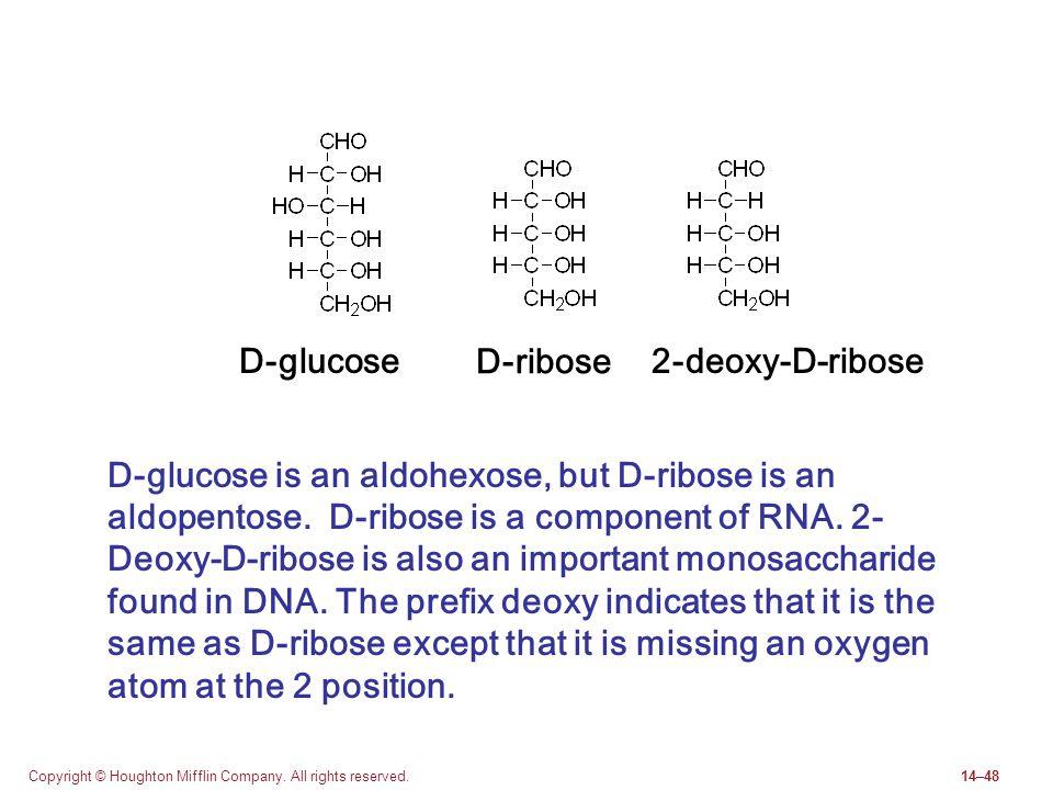 D-glucose D-ribose 2-deoxy-D-ribose