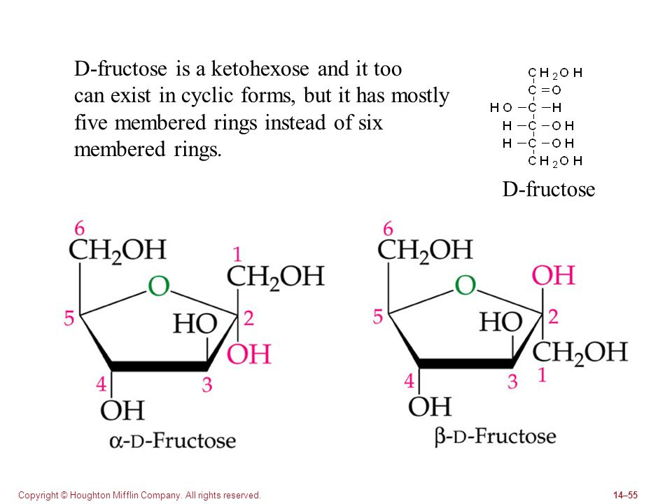 D-fructose is a ketohexose and it too