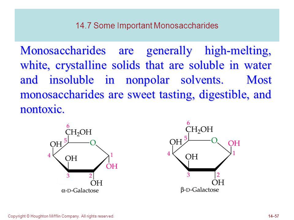 14.7 Some Important Monosaccharides