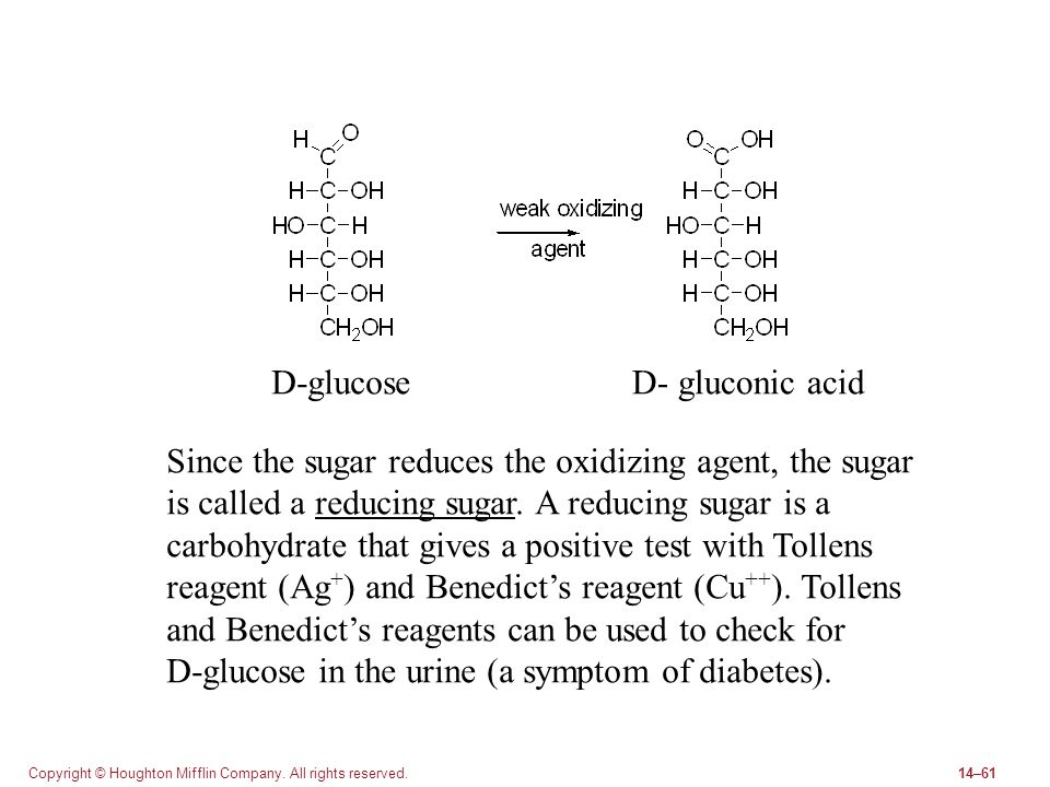 Since the sugar reduces the oxidizing agent, the sugar