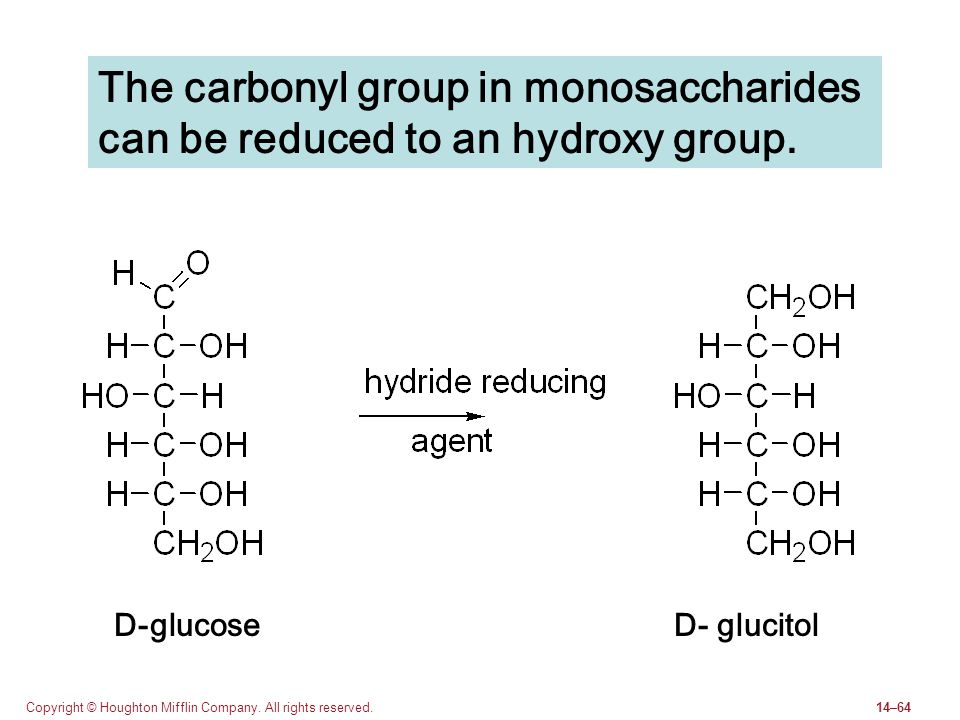 The carbonyl group in monosaccharides