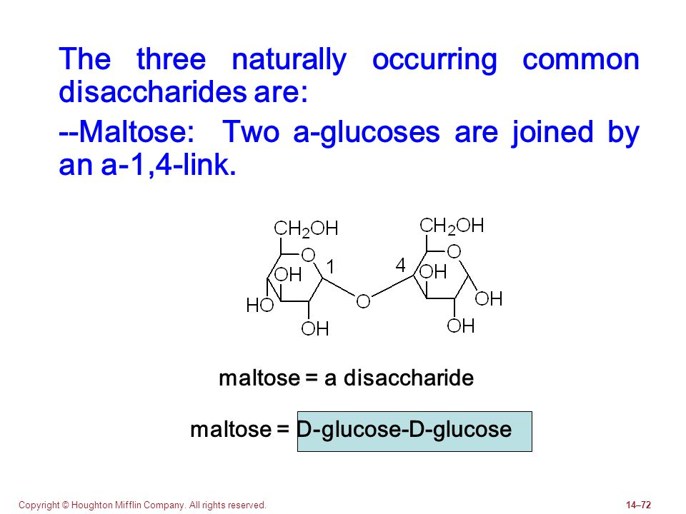 The three naturally occurring common disaccharides are: