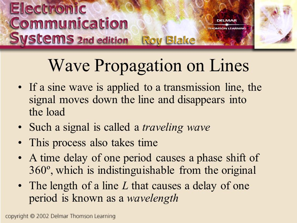 Wave Propagation on Lines