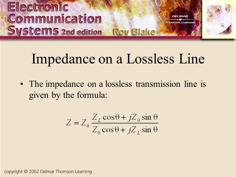 Impedance on a Lossless Line