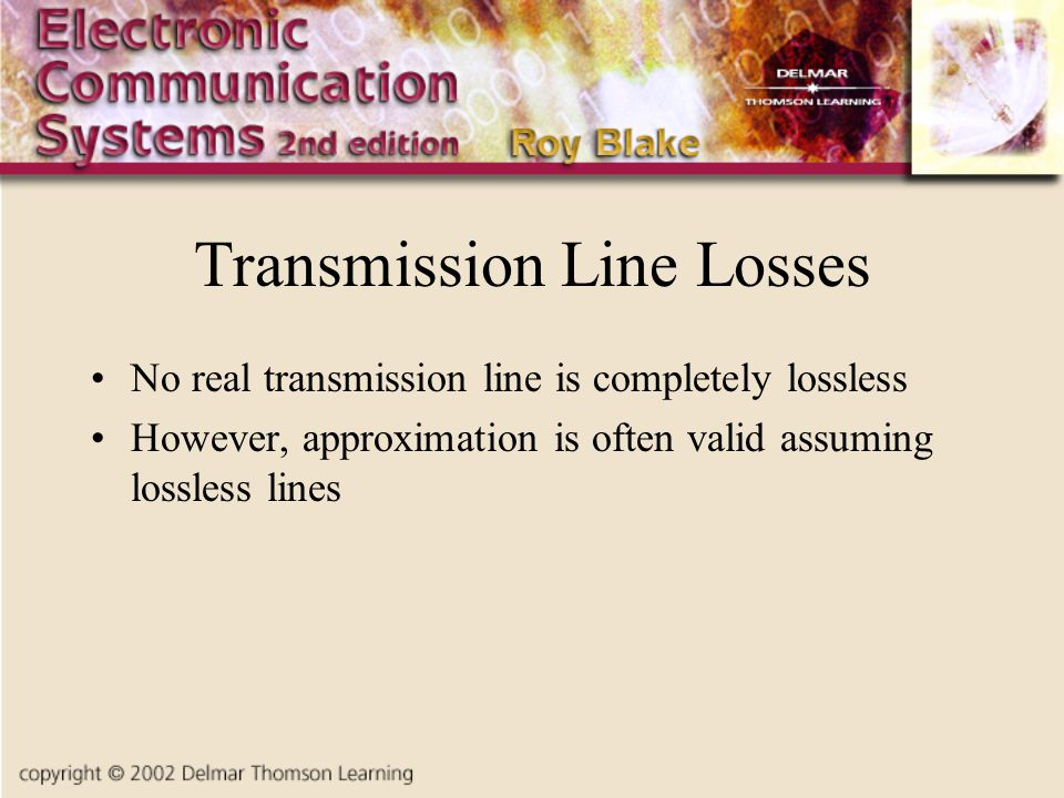 Transmission Line Losses