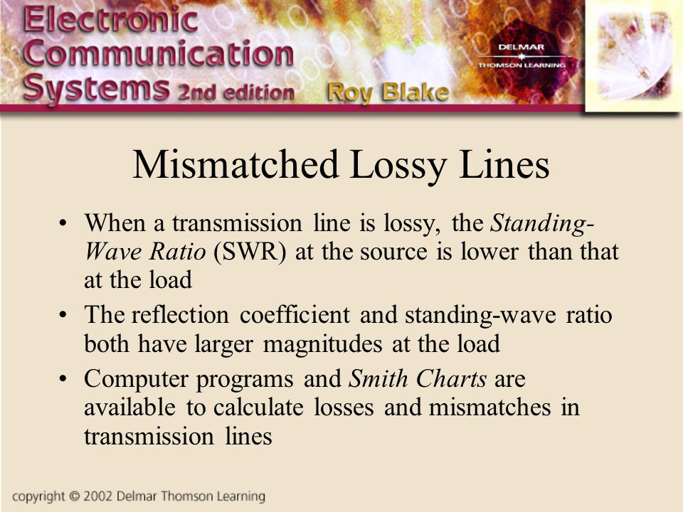 Mismatched Lossy Lines