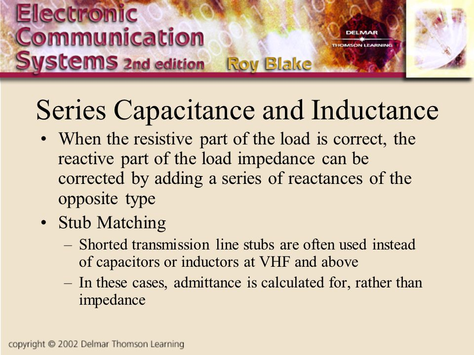 Series Capacitance and Inductance