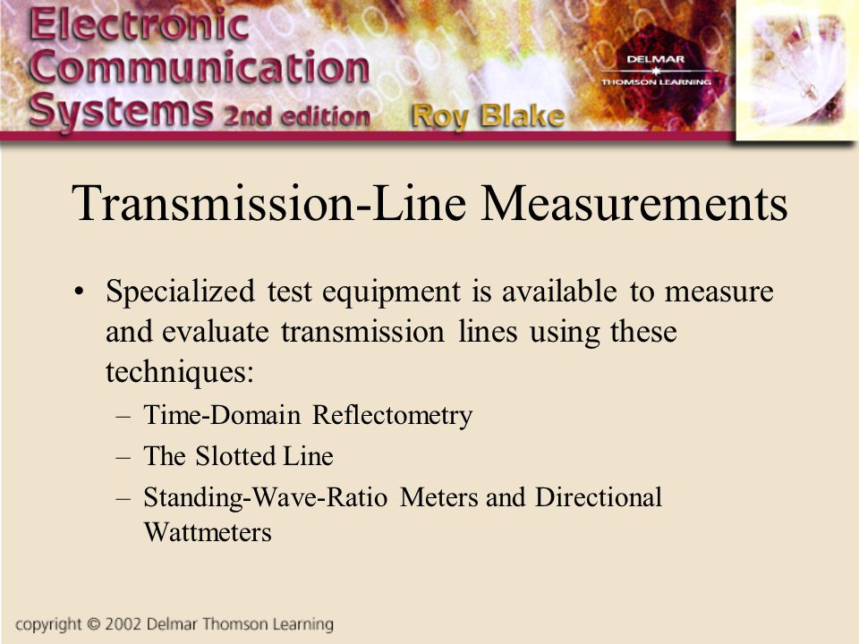 Transmission-Line Measurements