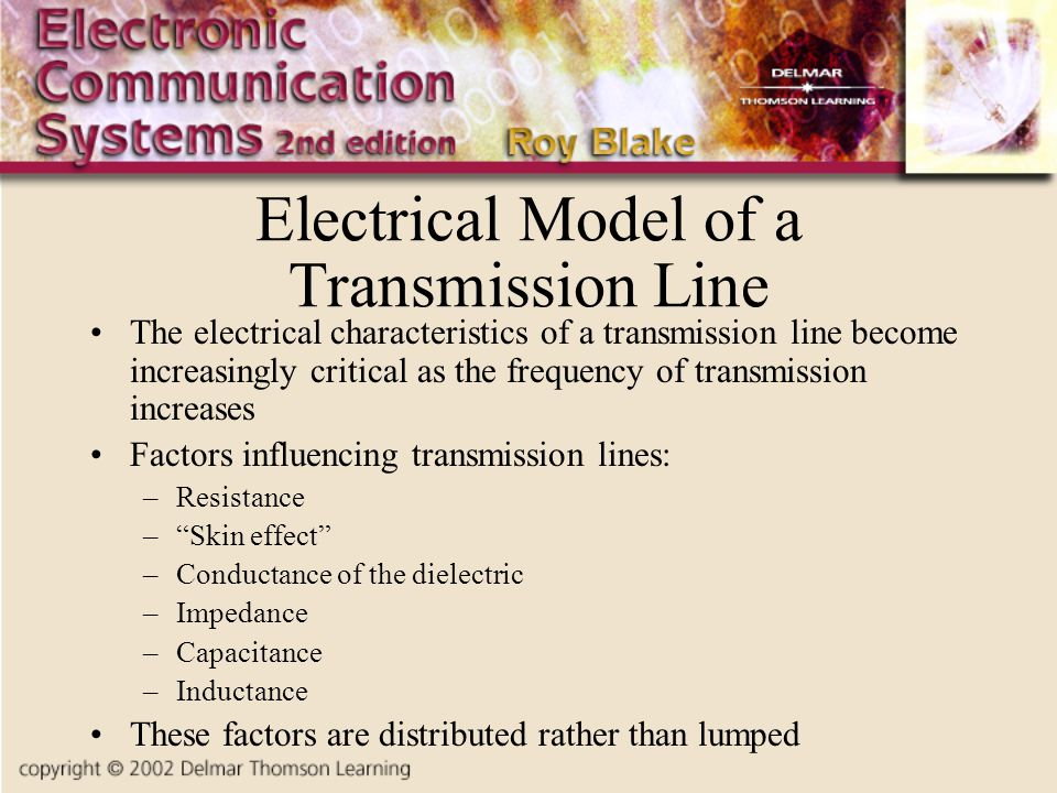 Electrical Model of a Transmission Line