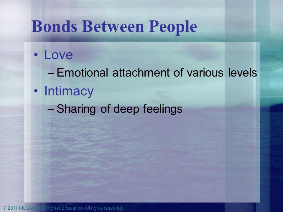Bonds Between People Love Intimacy