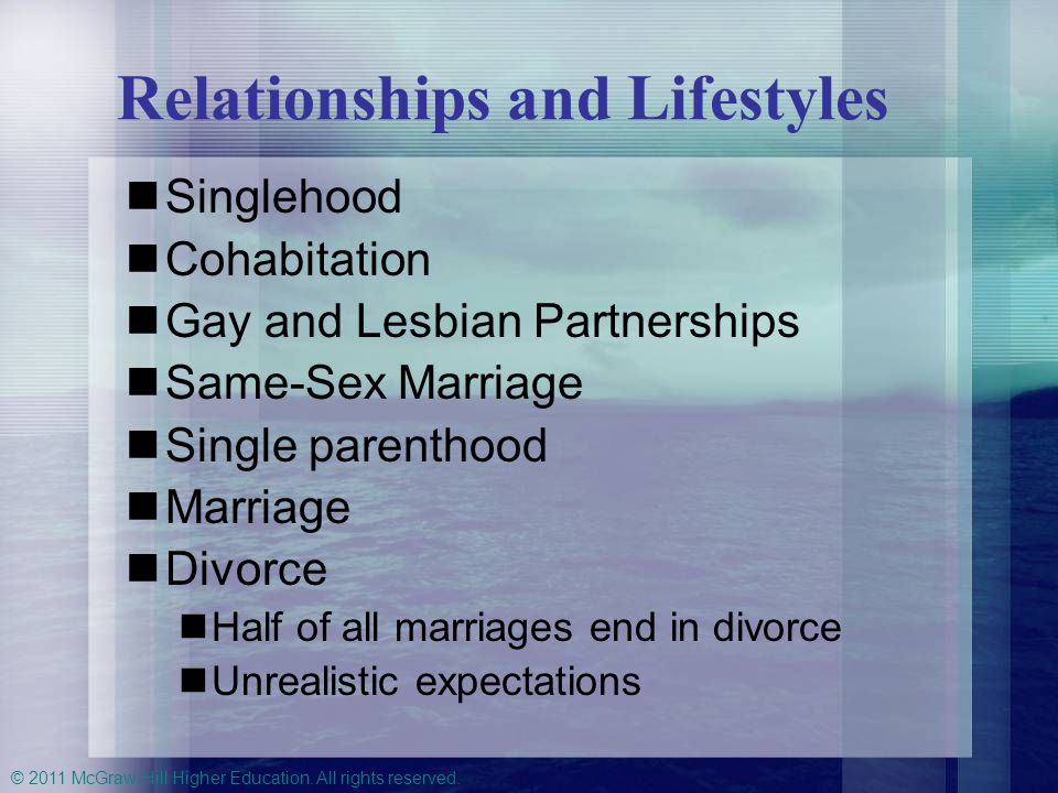 Relationships and Lifestyles