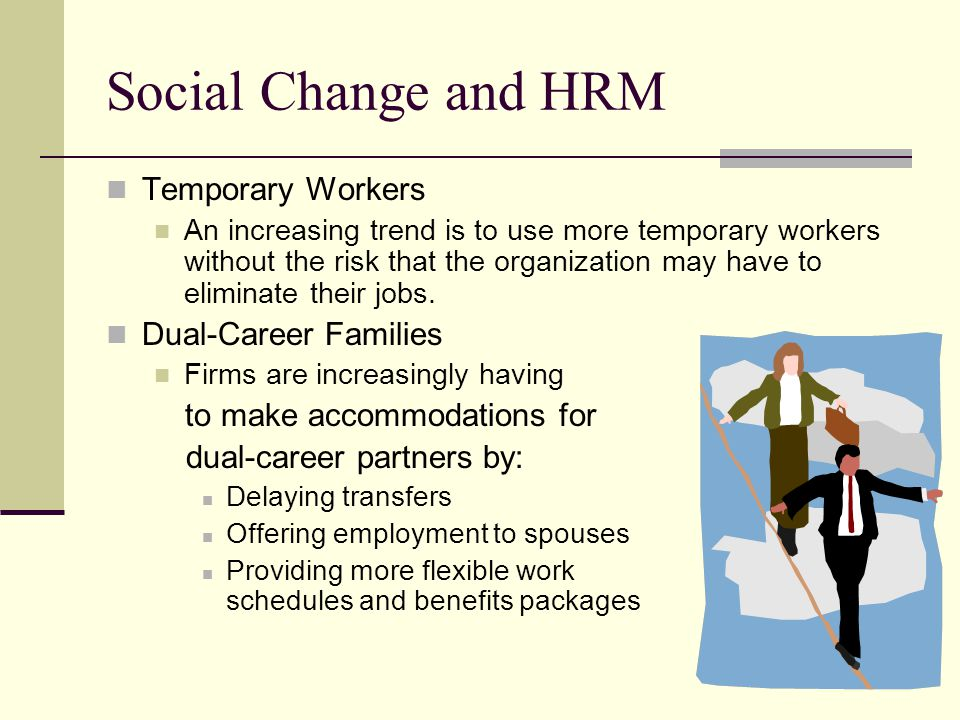 Social Change and HRM Temporary Workers Dual-Career Families