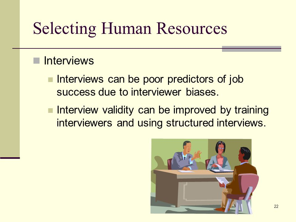 Selecting Human Resources
