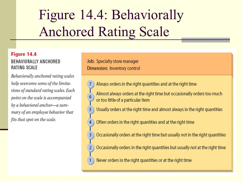 Figure 14.4: Behaviorally Anchored Rating Scale