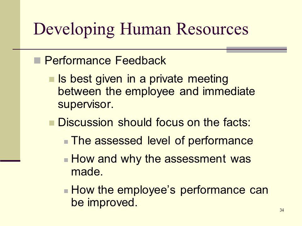 Developing Human Resources
