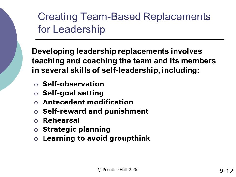 Creating Team-Based Replacements for Leadership