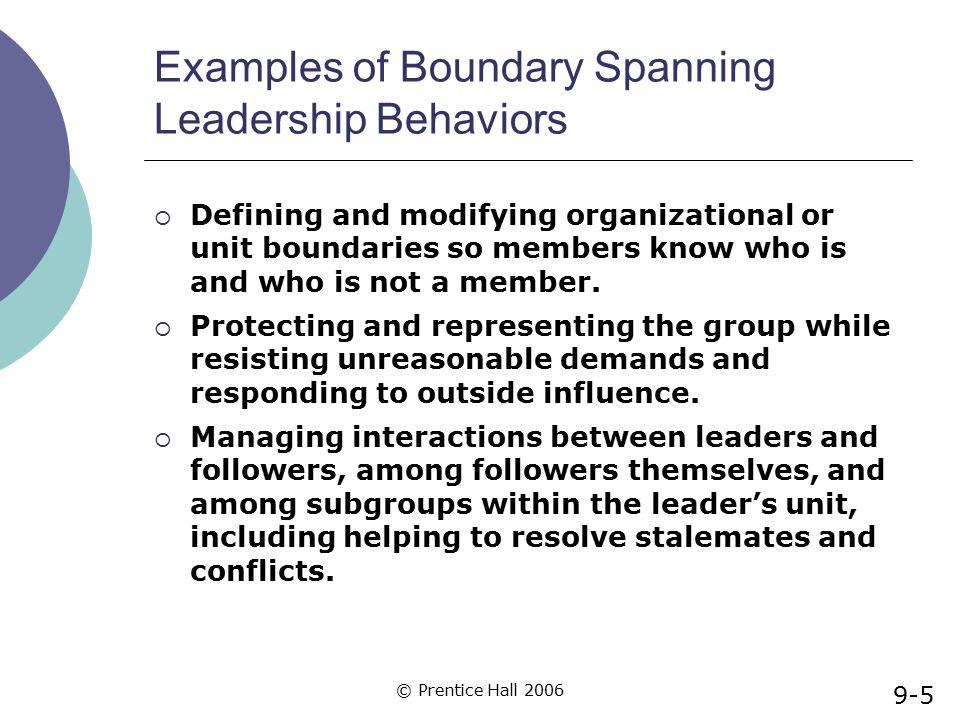 Examples of Boundary Spanning Leadership Behaviors